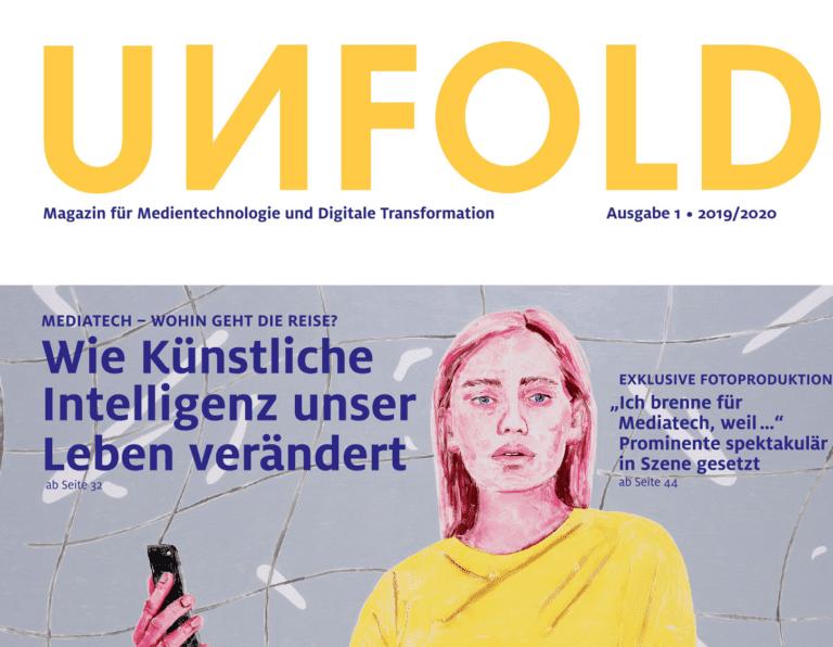 UNFOLD: Jetzt erhältlich! Das Magazin für Medientechnologien