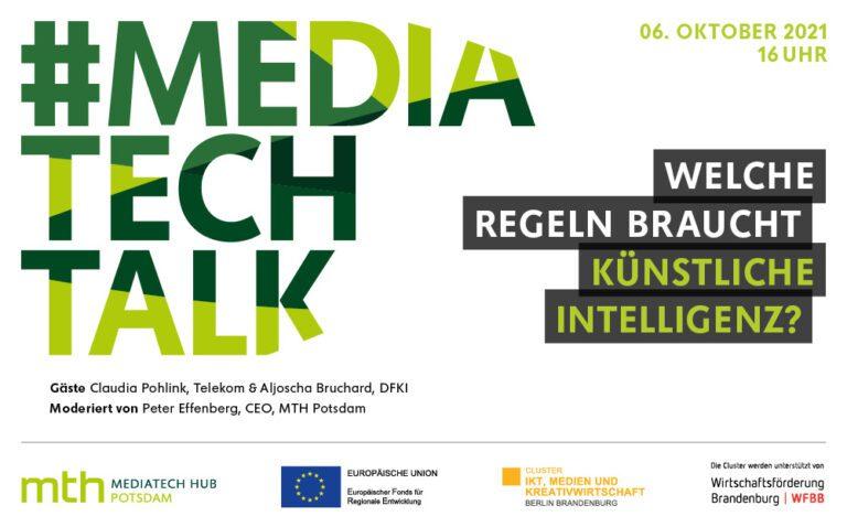 Jetzt anmelden: #mediatechtalk   Welche Regeln braucht Künstliche Intelligenz?